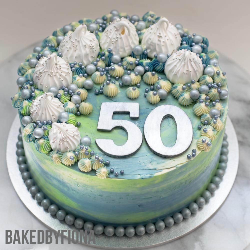 Sydney Cakes, Baked By Fiona 8 inch 50th birthday cake