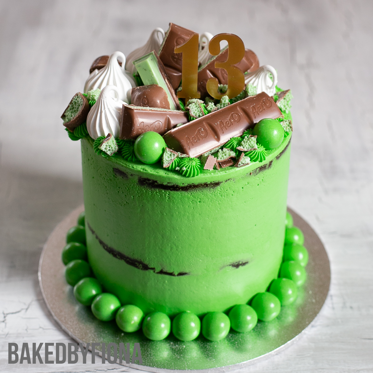 Sydney Cakes, Baked By Fiona choc mint cake, a 6 inch midi cake