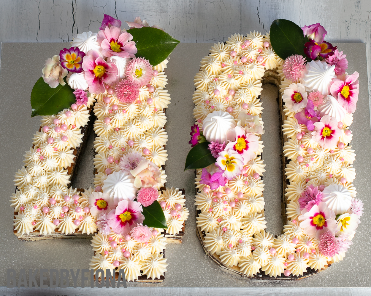 2018 BakedByFiona 40th birthday number cake