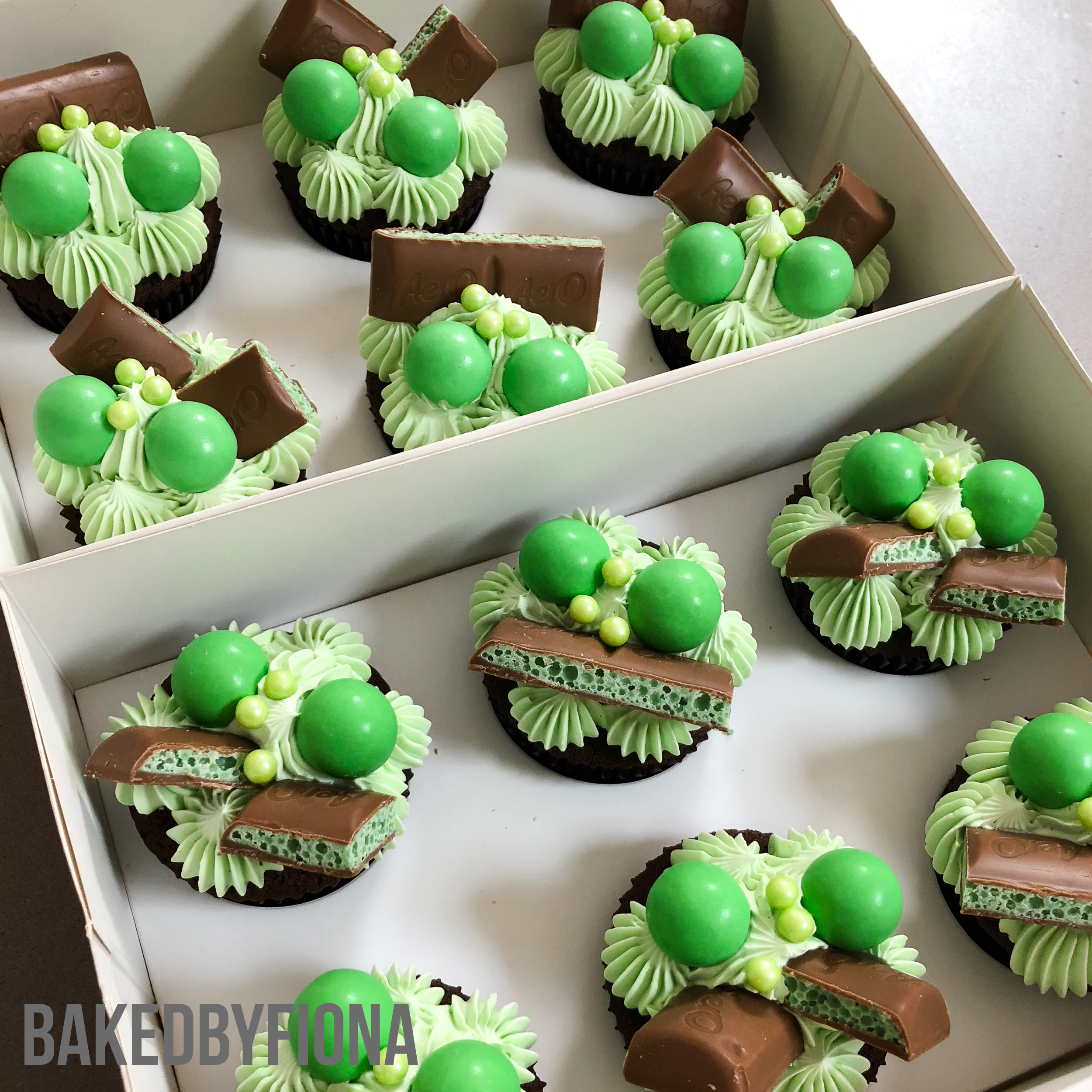 Sydney Cakes, Baked by Fiona gourmet chocolate mint cupcakes
