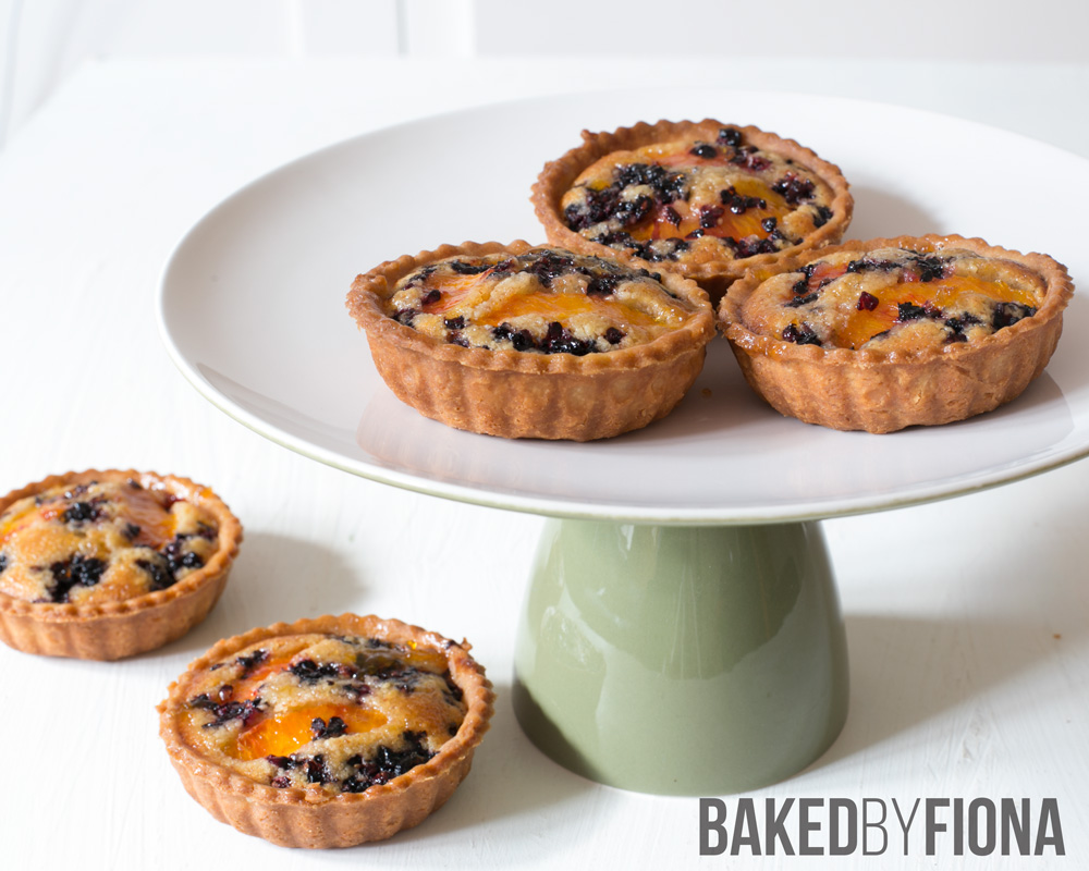Sydney Cakes, Baked by Fiona orange and mulberry almond tarts