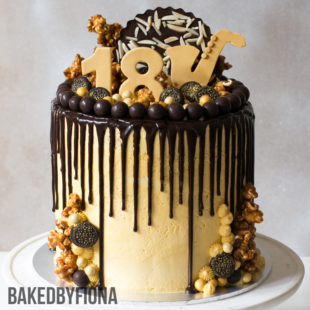 Sydney Cakes, Baked by Fiona 8 inch cake with 4 layers of chocolate and coconut cake