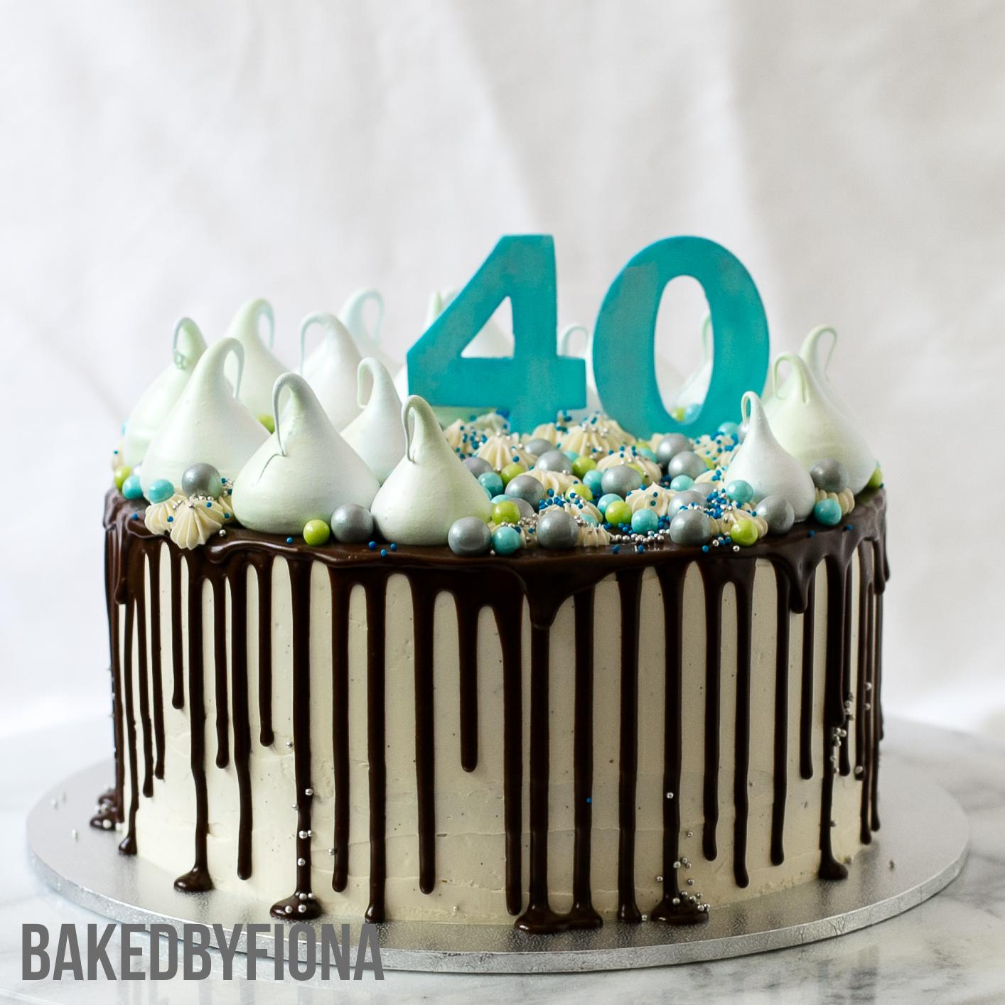 Sydney Cakes, Baked By Fiona 40th birthday cake