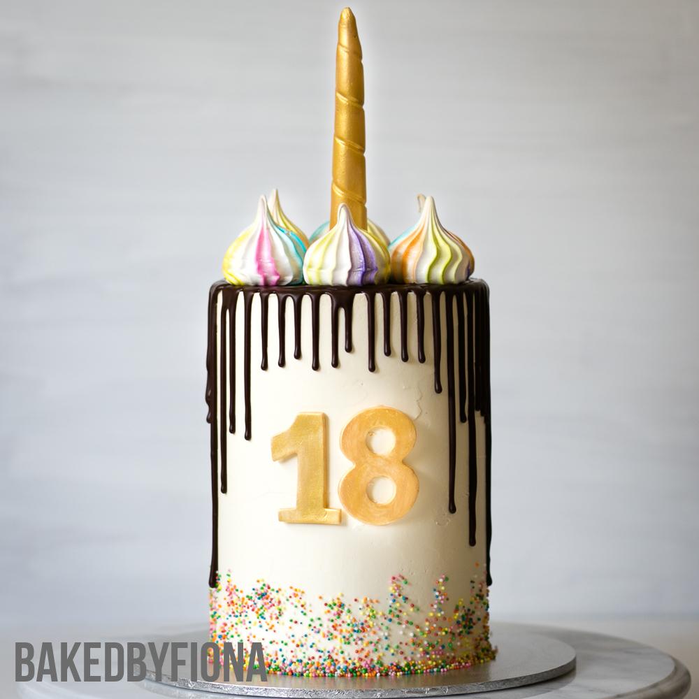 Sydney Cakes, Baked By Fiona rainbow unicorn birthday cake