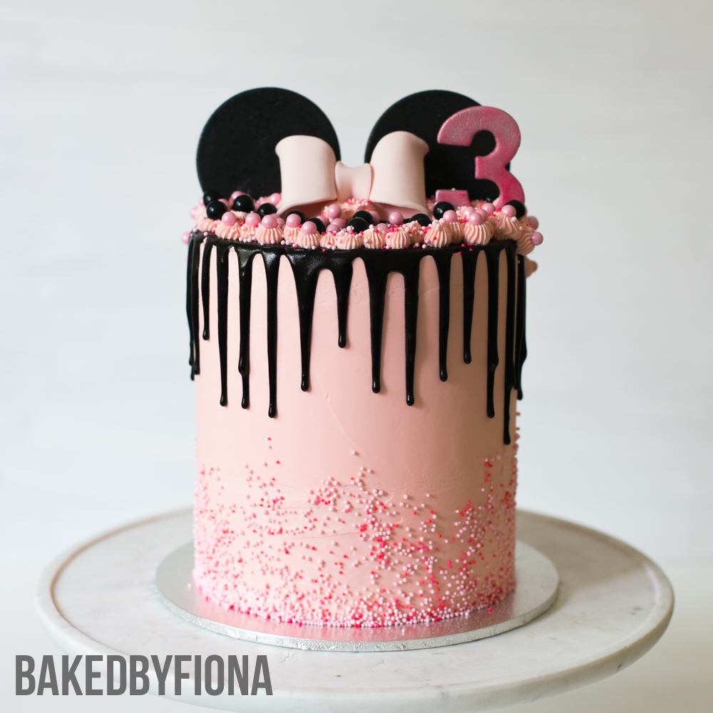 Sydney Cakes, Baked by Fiona 6 inch tower Minnie Mouse cake