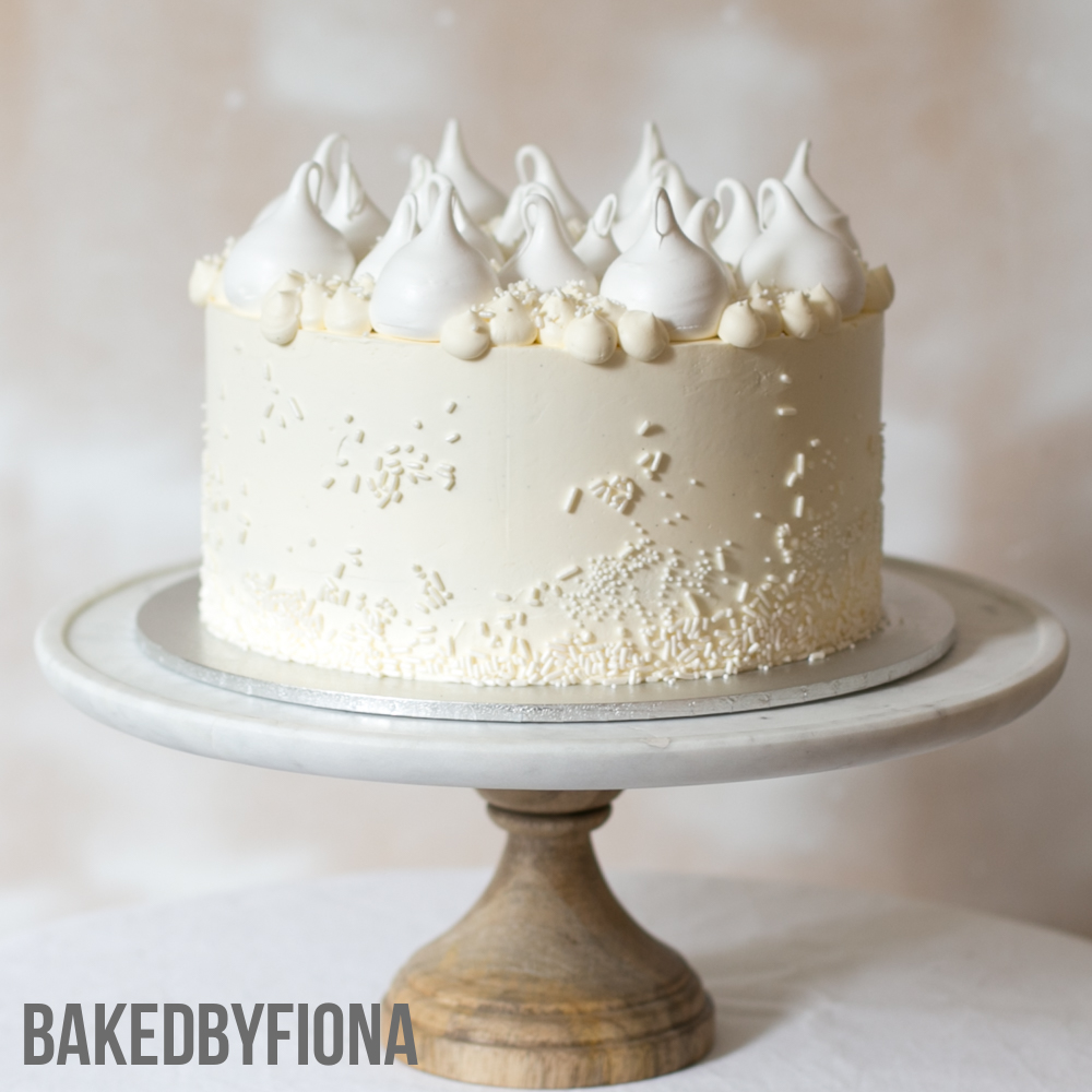 Sydney Cakes, Baked By Fiona cream buttercream cake with meringue kisses