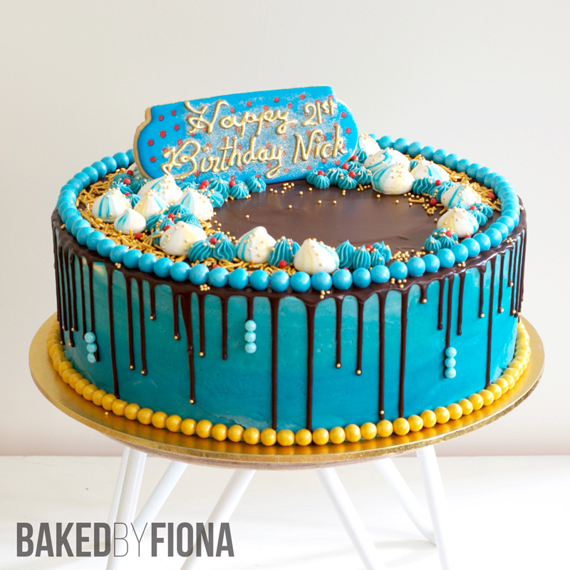Sydney Cakes, Baked by Fiona 21st birthday cake
