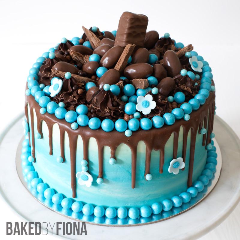 Sydney Cakes, Baked by Fiona blue chocolate cake