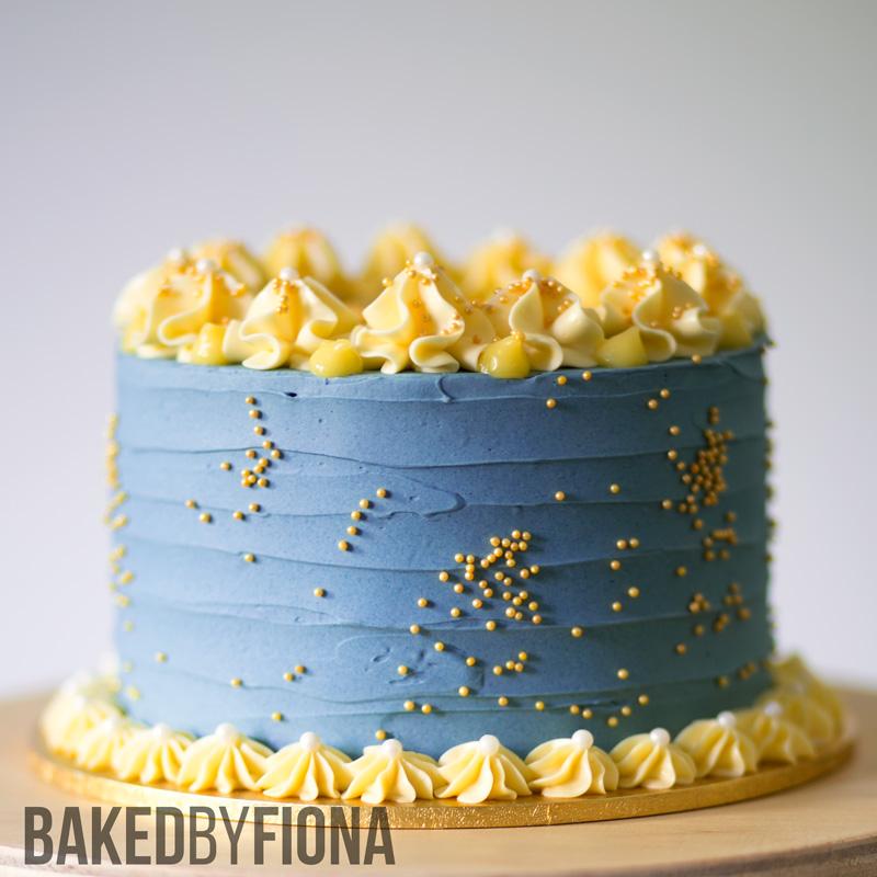 Sydney Cakes, Baked by Fiona lemon and blueberry cake
