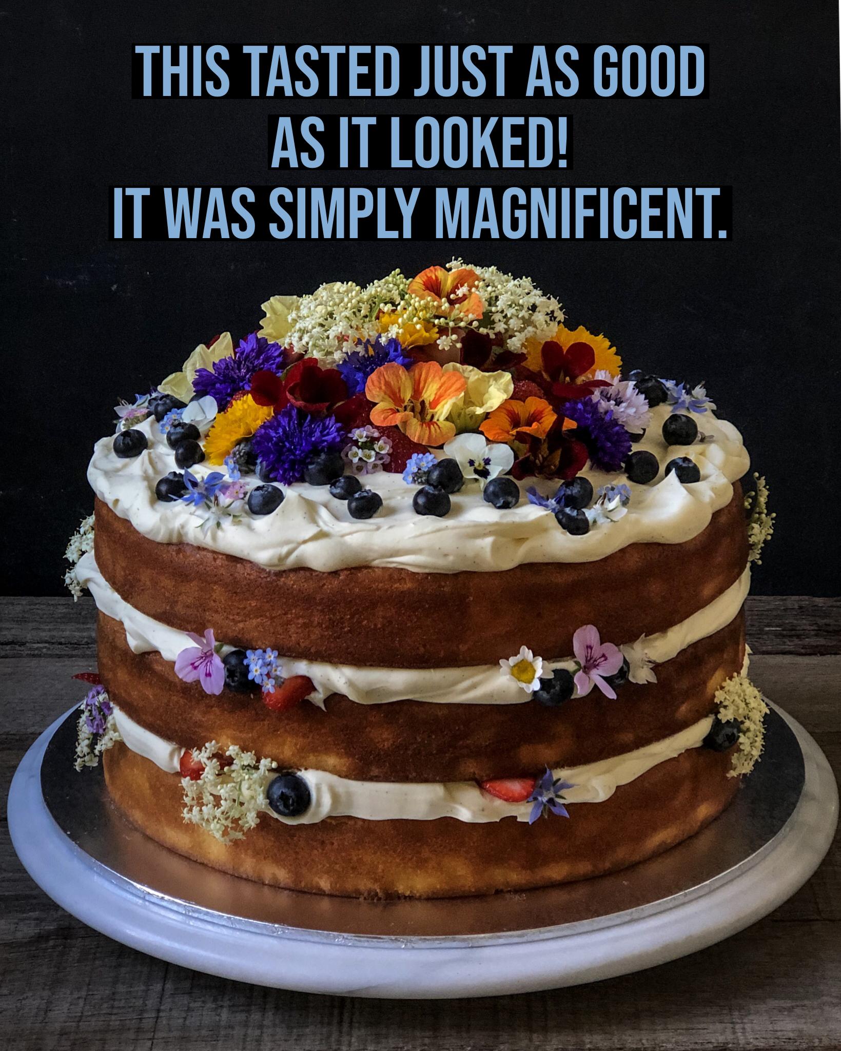 Sydney Cakes, Baked By Fiona 12 inch vanilla mascarpone cake
