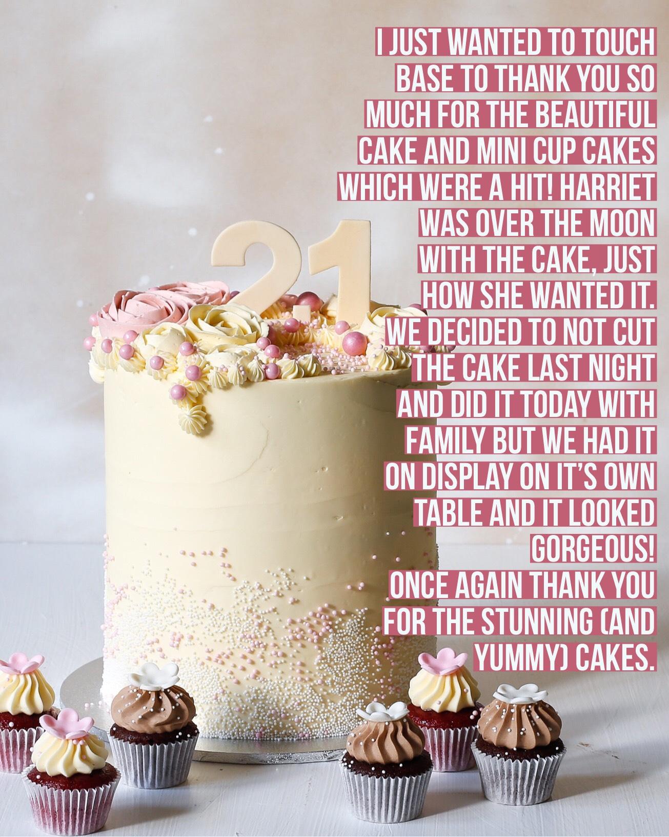 Sydney Cakes, Baked By Fiona 21st birthday cakes