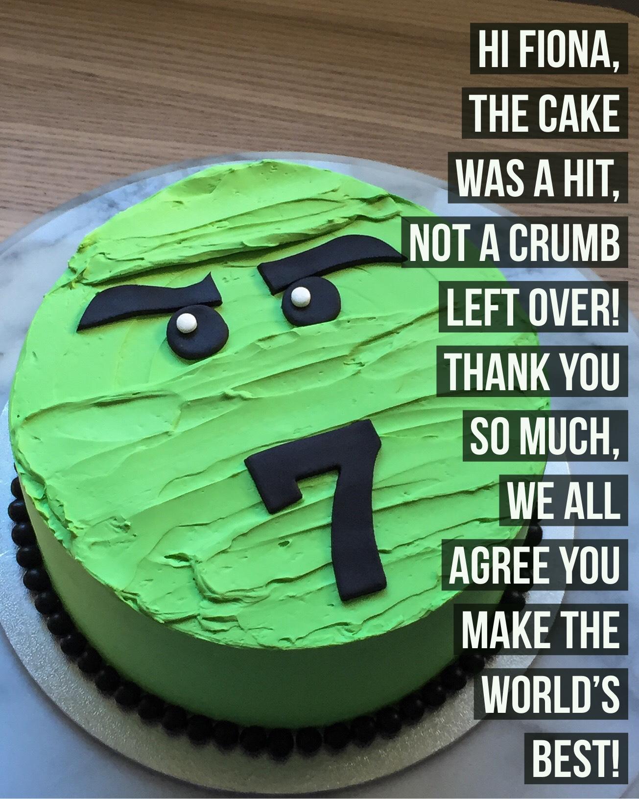 Sydney Cakes, Baked By Fiona 7th green novelty cake