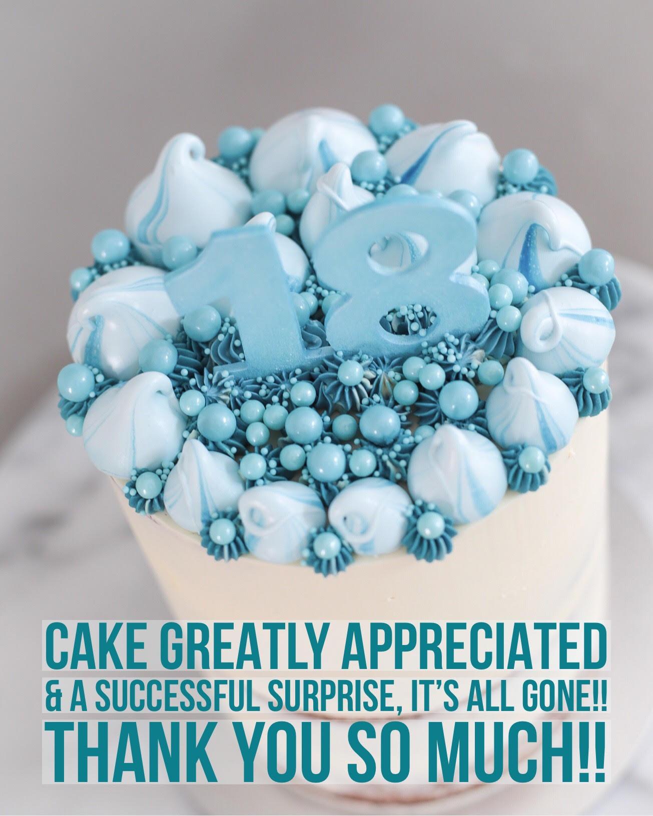 Sydney Cakes, Baked By Fiona blue meringue cake