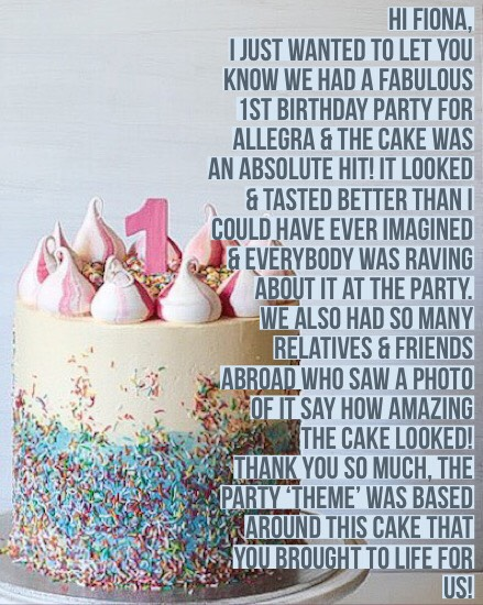 Sydney Cakes, Baked By Fiona meringue cake